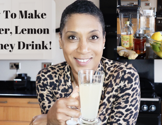 How to make immune boosting ginger, lemon & honey drink